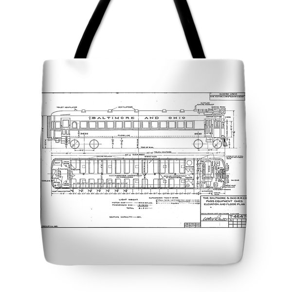 Gas Electric Car Diagram Tote Bag