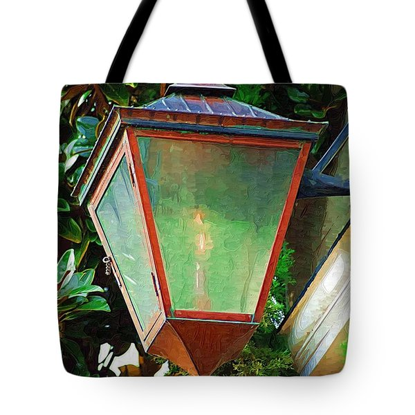 Tote Bag featuring the photograph Gas Lantern by Donna Bentley