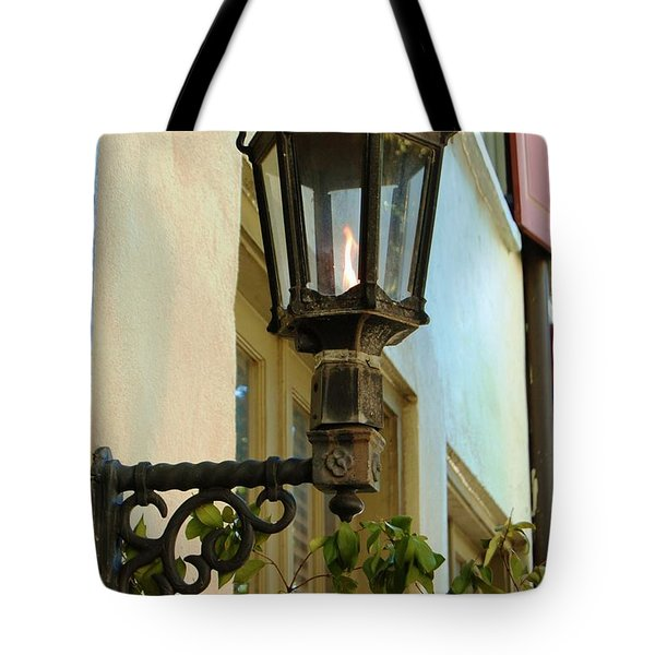 Tote Bag featuring the photograph Gas Lite by Donna Bentley
