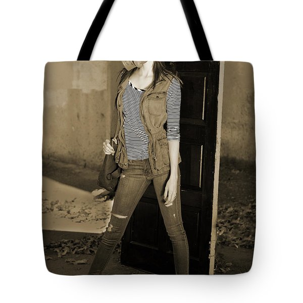 Gas Mask Girl  Tote Bag