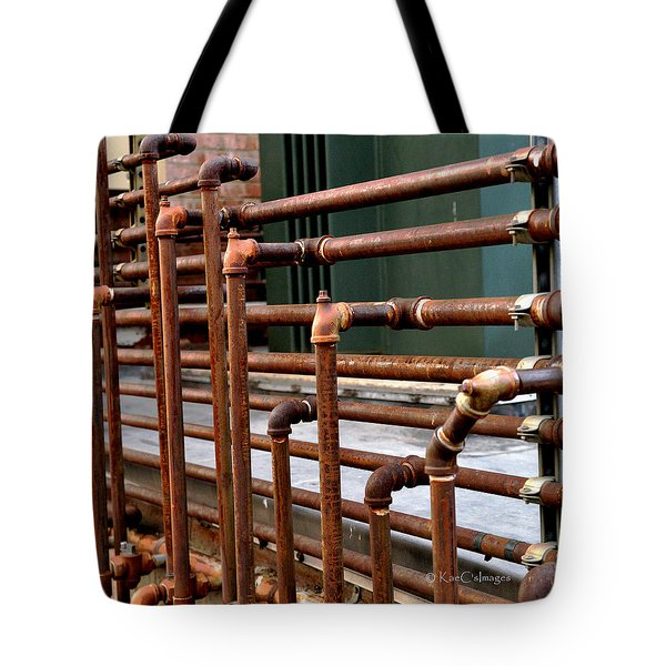 Gas Pipes And Fittings Tote Bag