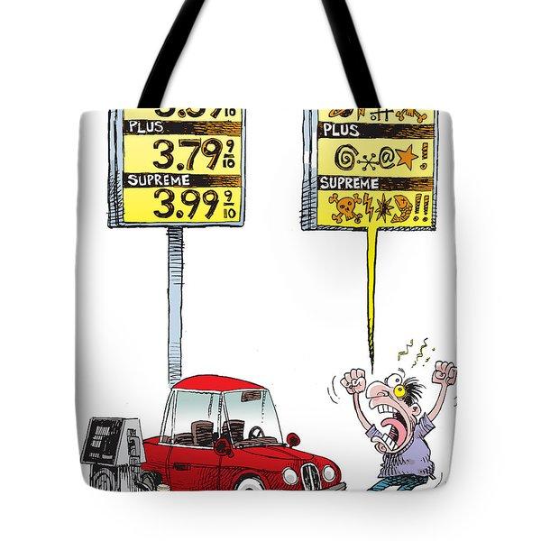 Gas Price Curse Tote Bag