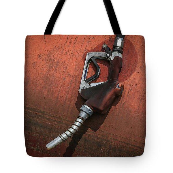 Gas Pump Tote Bag by Ray Congrove