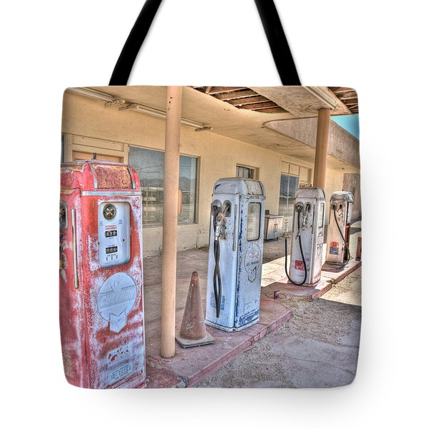 Gas Pumps Tote Bag