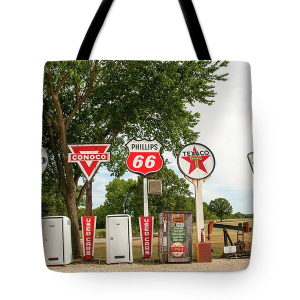 Gas Signage Tote Bag
