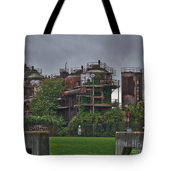 Tote Bag featuring the photograph Gas Works by Kirt Tisdale