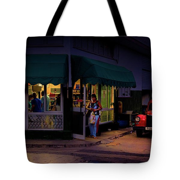 Tote Bag featuring the photograph Gasolinera Linea Y Calle E Havana Cuba by Charles Harden