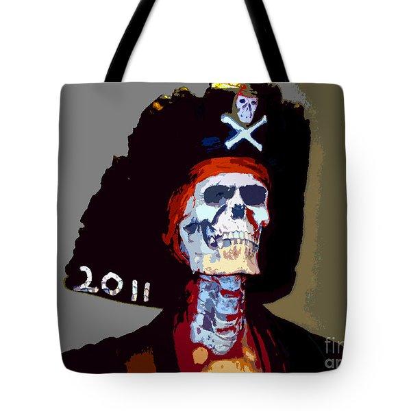 Gasparilla Pirate Fest Poster Tote Bag by David Lee Thompson