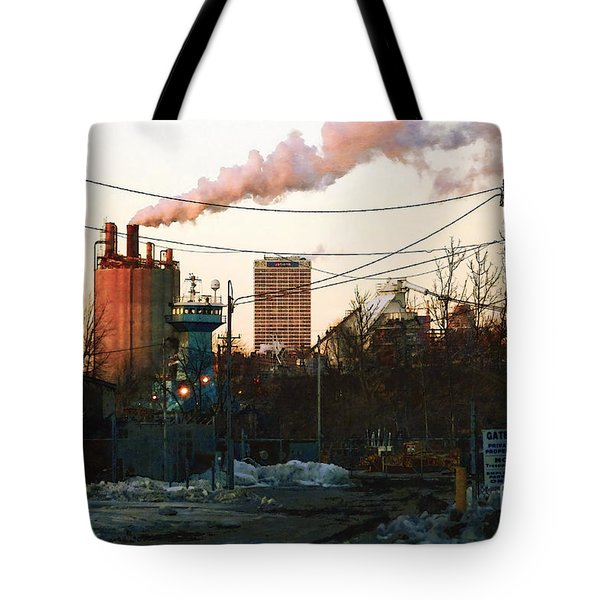 Tote Bag featuring the digital art Gate 4 by David Blank