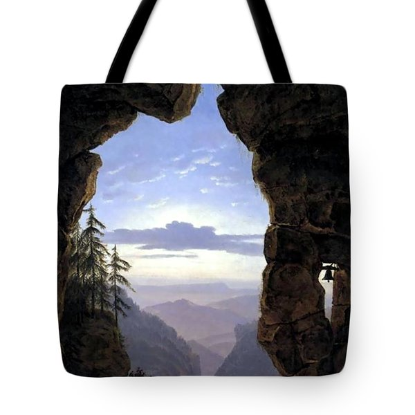 Gate In The Rocks  Tote Bag by Karl Friedrich Schinkel