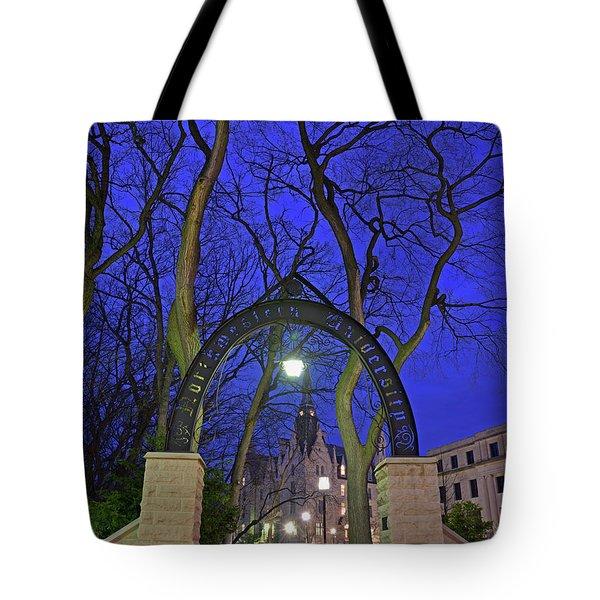 Gate Of Knowledge - Northwestern University Tote Bag