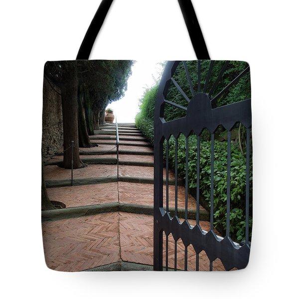Gate To Castello Vichiamaggio Tote Bag