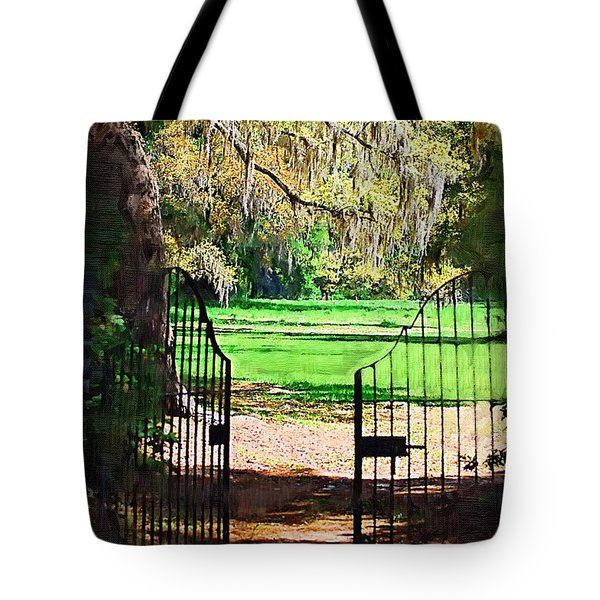 Gate To Heaven Tote Bag by Donna Bentley