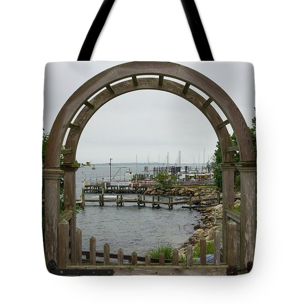 Gate To Noank Harbor Tote Bag