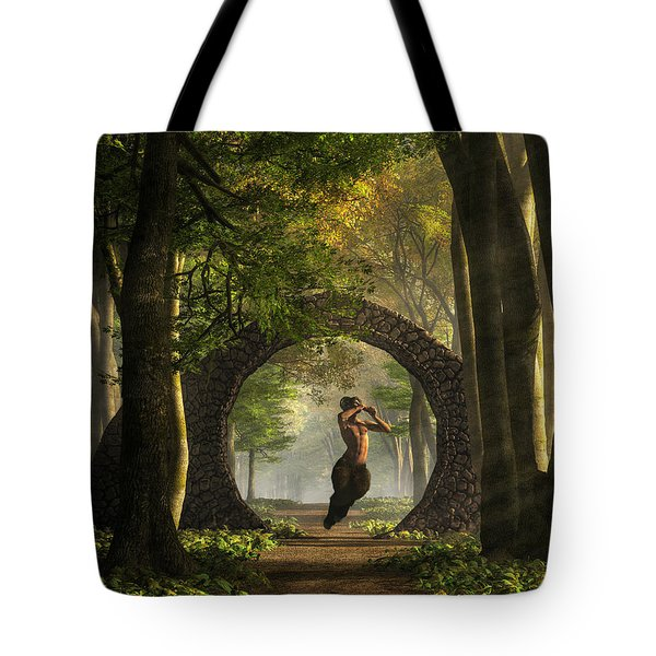 Gate To Pan's Garden Tote Bag by Daniel Eskridge