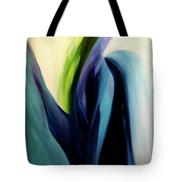 Tote Bag featuring the painting Gate To The Garden  By Paul Pucciarelli by Iconic Images Art Gallery David Pucciarelli