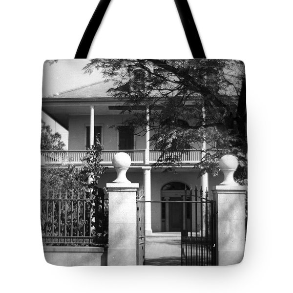 Gated Colonial Home Tote Bag