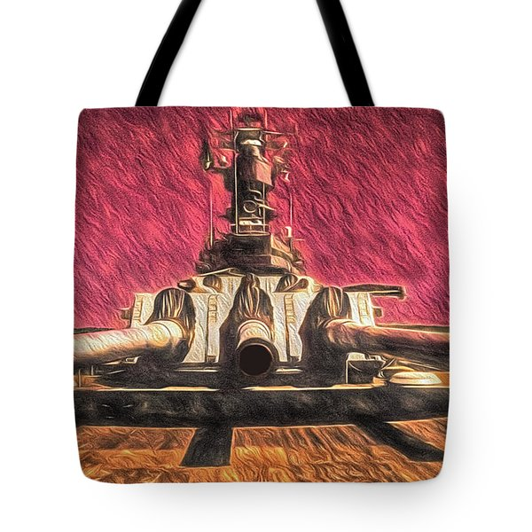 Tote Bag featuring the photograph Gates Of Hell  ... by Chuck Caramella
