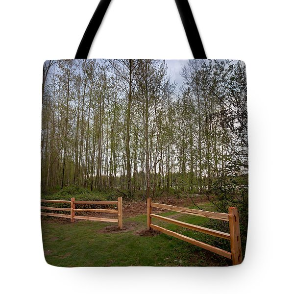 Gates To The Birch Wood Tote Bag by Eti Reid