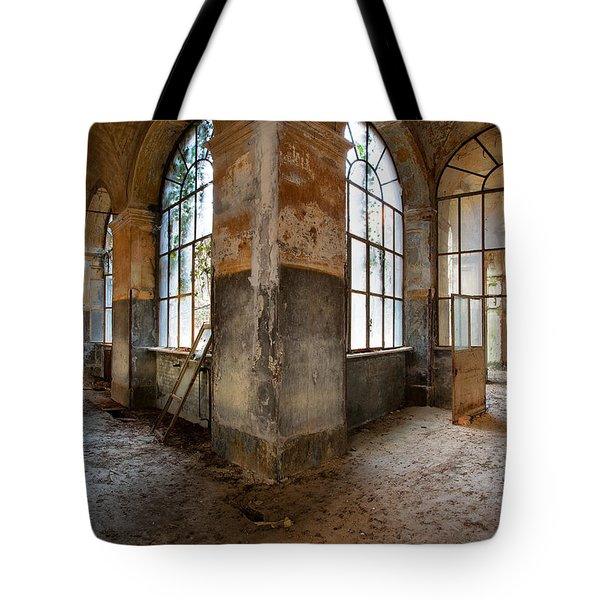 Gateway To Sanity - Abandoned Building Tote Bag