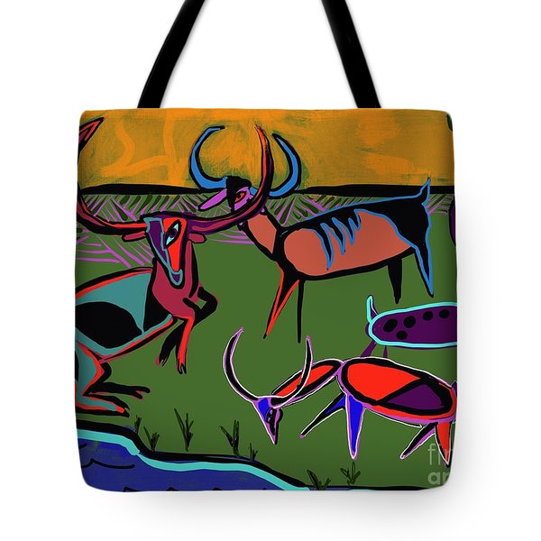 Gathering Herd Tote Bag