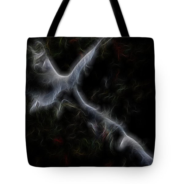 Gathering Of Angels Tote Bag by William Horden