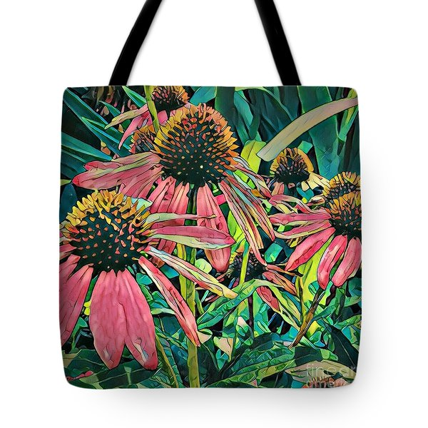 Gathering Of Coneflowers Tote Bag