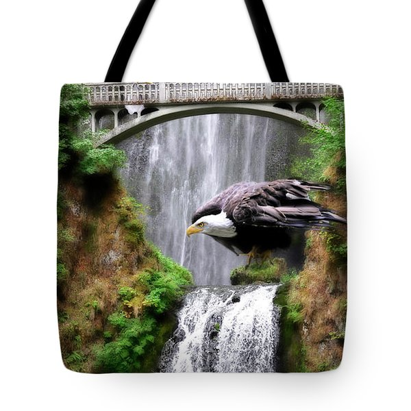 Gathering Of Eagles Tote Bag by Constance Woods