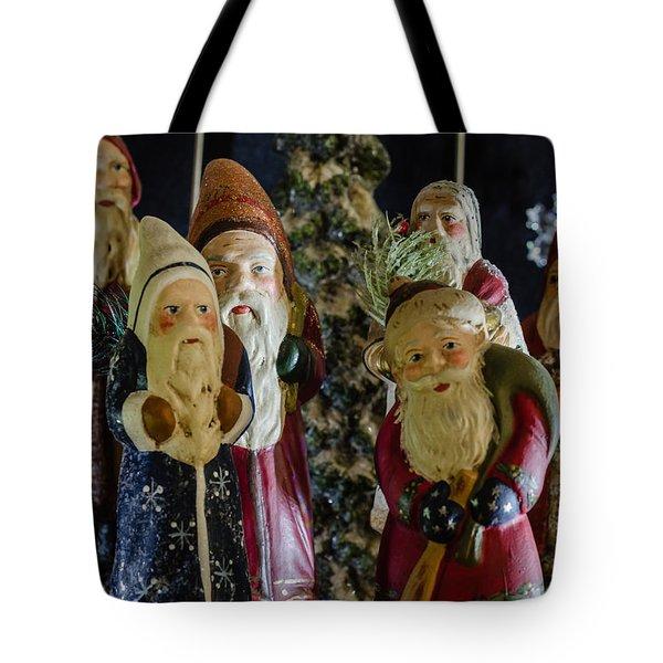 Gathering Of Father Christmas Tote Bag