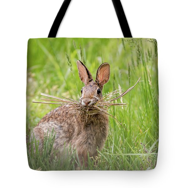 Gathering Rabbit Tote Bag by Terry DeLuco
