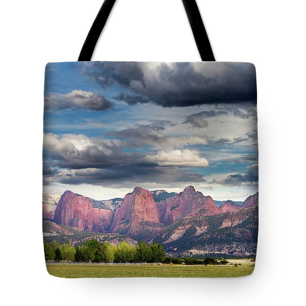 Gathering Storm Over The Fingers Of Kolob Tote Bag