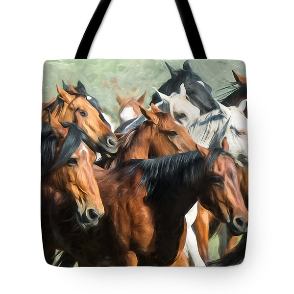 Gathering The Herd Tote Bag