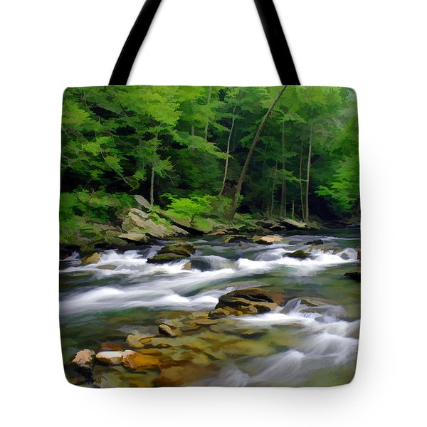 Gatlinburg Stream Tote Bag