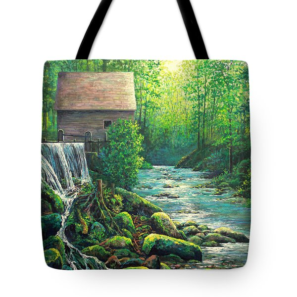Tote Bag featuring the painting Gatlinburg  Tenessee Mill by Lou Ann Bagnall