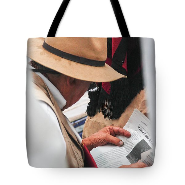Gaucho Reading Tote Bag by Silvia Bruno