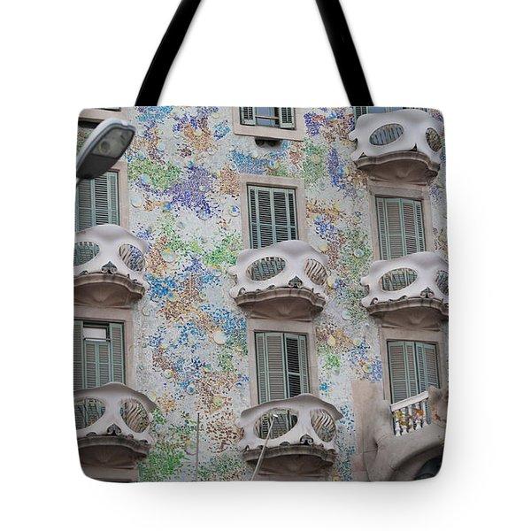 Gaudi Apartment Building Tote Bag