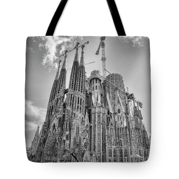 Gaudi La Sagrada Blk Wht Tote Bag