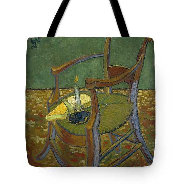 Tote Bag featuring the painting Gauguin's Chair by Van Gogh