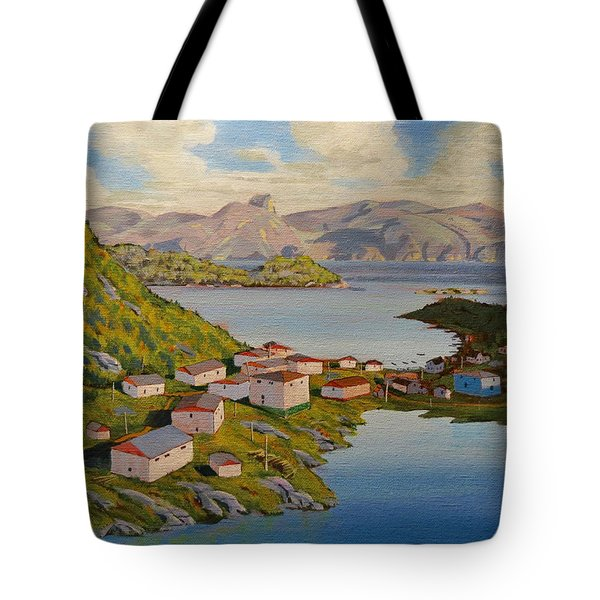 Gaultois Village Newfoundland Tote Bag
