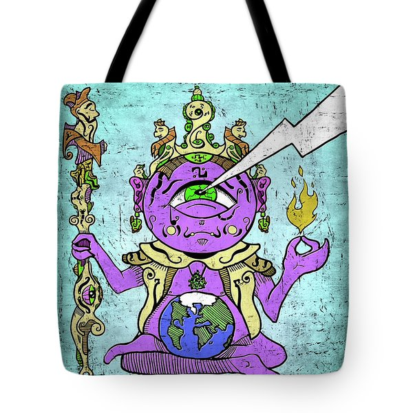 Gautama Buddha Colour Illustration Tote Bag
