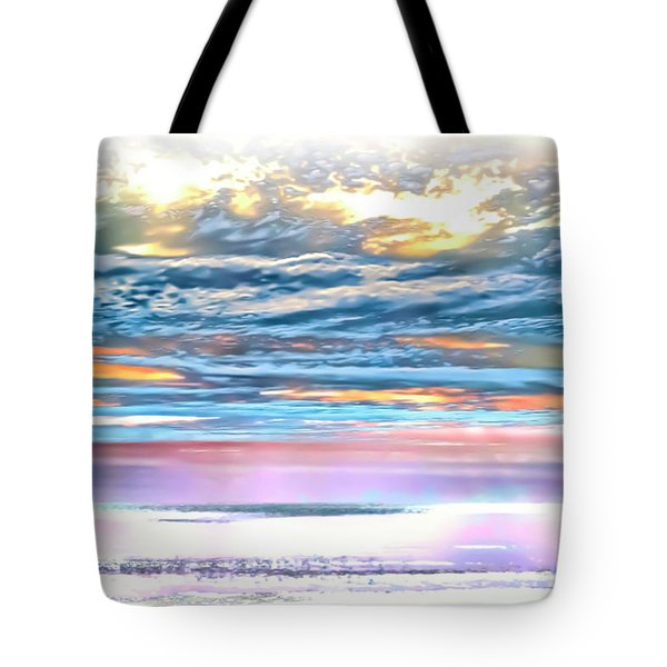 Tote Bag featuring the photograph Gauzy Sunset by Walt Foegelle