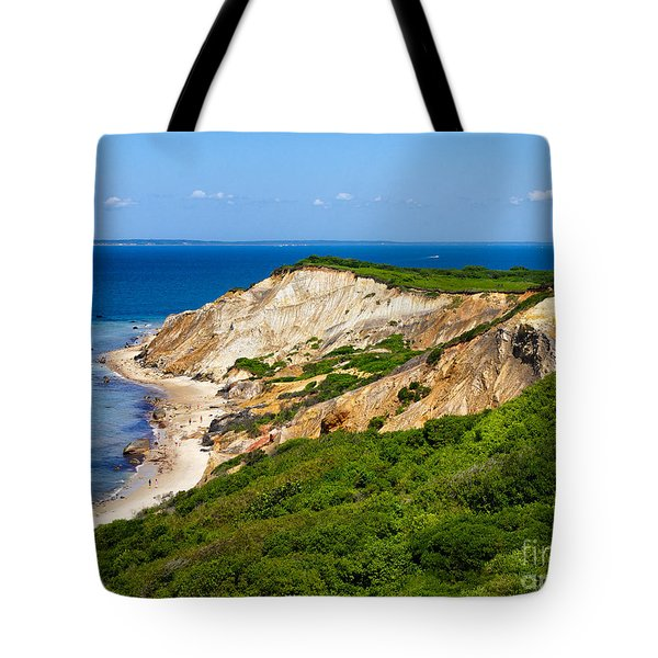 Gay Head Cliffs Tote Bag by Mark Miller