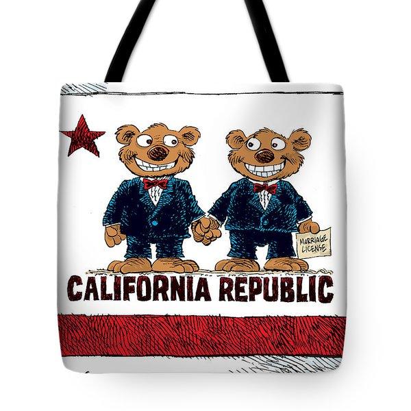 Gay Marriage In California Tote Bag