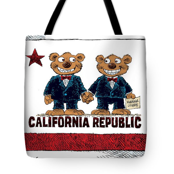 Gay Marriage In California Tote Bag