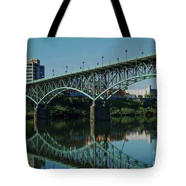 Tote Bag featuring the photograph Gay Street Bridge by Douglas Stucky