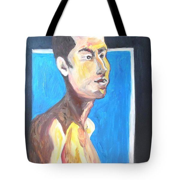 Tote Bag featuring the painting Gay Survivor by Esther Newman-Cohen