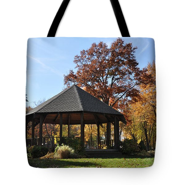 Gazebo At North Ridgeville - Autumn Tote Bag