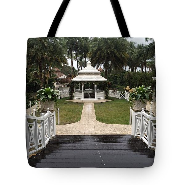 Gazebo At The Palms Tote Bag