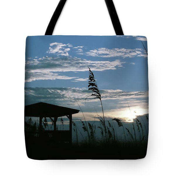 Gazebo In The Dunes Tote Bag