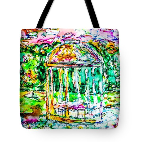 Gazebo Sunset Tote Bag